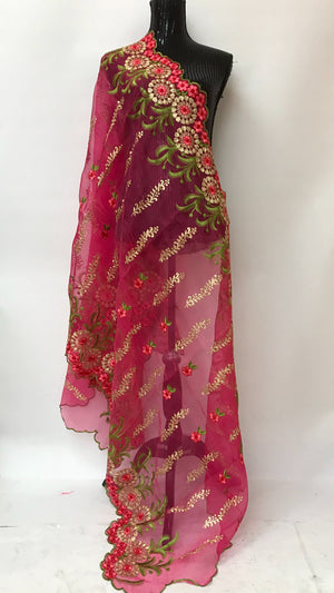 ORGANZA EMBROIDERED DUPATTA