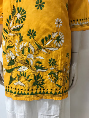 KANTHA WORK EMBROIDERED KURTA