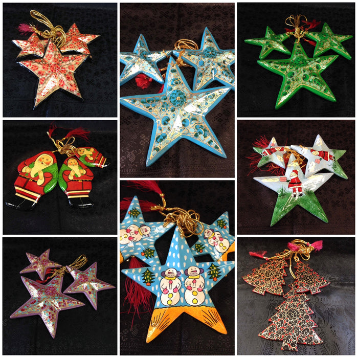 Paper Meche Christmas Ornaments