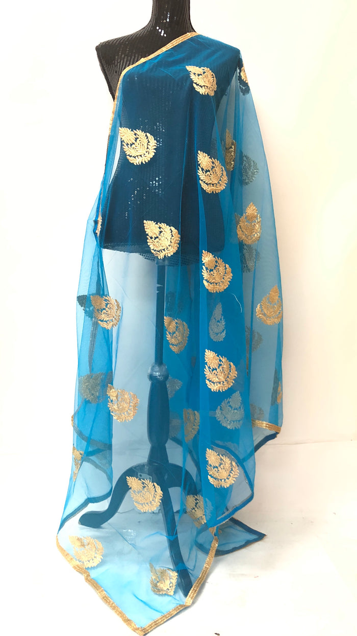 NET EMBROIDERED DUPATTA