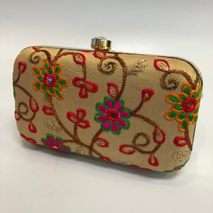 Embroidered Clutch