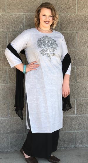 LONG LINEN/COTTON KURTA