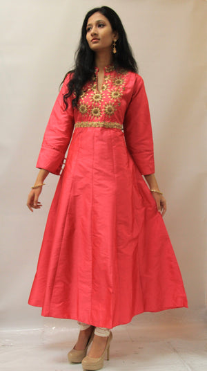 Party Wear Silk Kurta