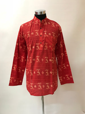Om Men Kurta - Red