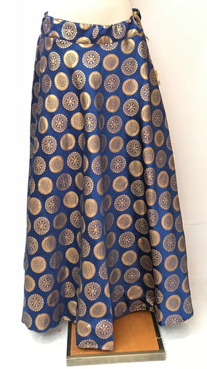 BANARASI SKIRT- BLUE