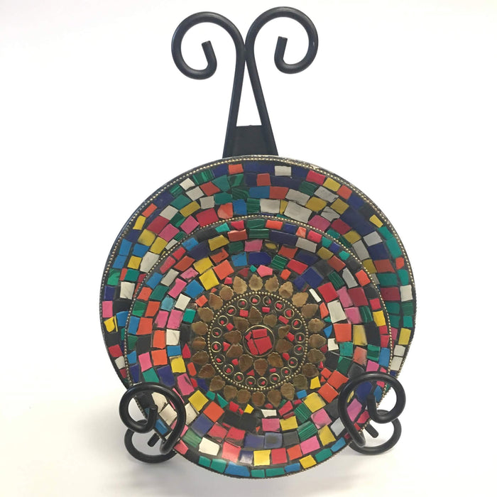 Pretty in Colors Mosaic Tray Handmade Mosaic Great for your home