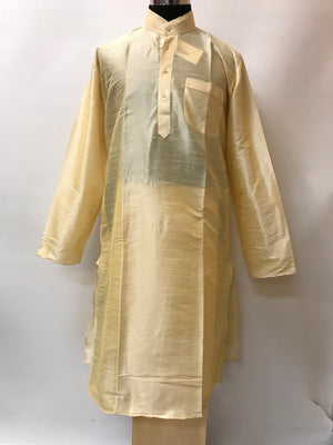 Mens Kurta Pajama Set_Cream