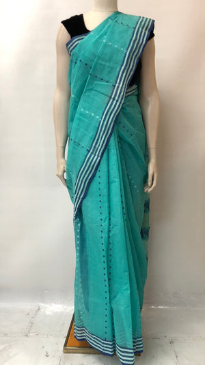 Sky Blue Bengal Cotton saree