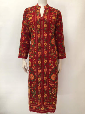 Winter Special Embroidered Woolen Kurta