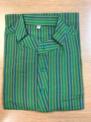MEN'S SHORT STRIPED COTTON KURTA