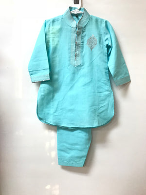 Cotton Kurta - Sea Green