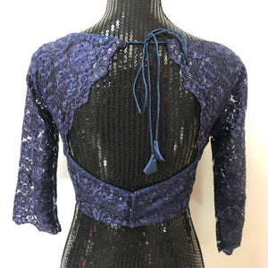 Custom Made Net Blouse - BLUE