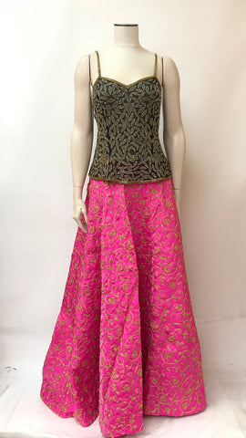 Party wear embroidered long skirt