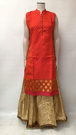 Party Wear Brocade Kurta