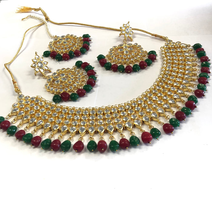 Royal Indian Traditional Style Kundan Necklace Set