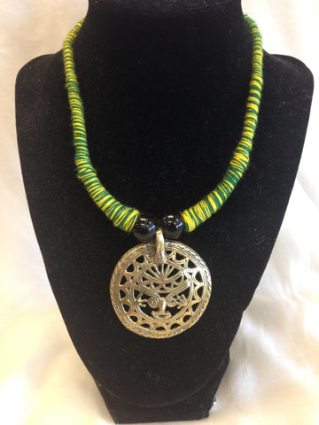 Handmade Dokra Work Tribal design Necklace - Sarang