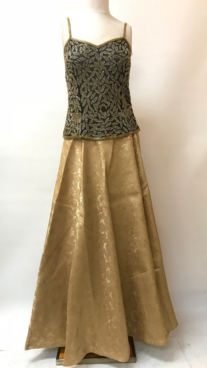 JACQUARD SILK SKIRT