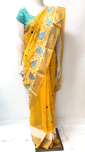 Jamdani Saree with Embroidery