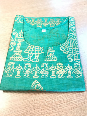 PRINTED SILK KURTAS (COLORS AVAILABLE)