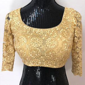 Custom Made Net Blouse - Gold