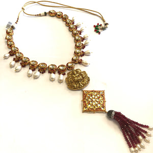 Indian Royal Style Kundan Necklace Set