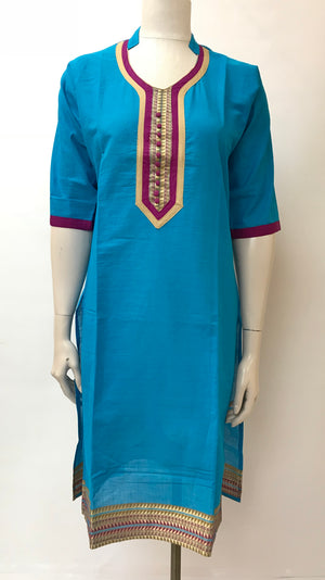 Long kurta with patchwork
