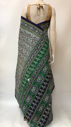 Cotton Ikkat Print Saree