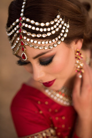 Bridal Head Accessory/TIKA/MATH PATTI