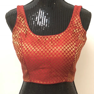 Custom Stitch Sleeveless Blouse