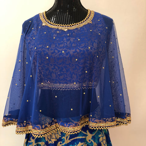 DESIGNER CAPE BLOUSE/CROPTOP