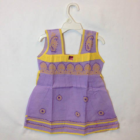 Girls Frock - Purple - 1