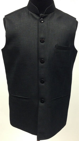Men's Silk Vest - Black - 1