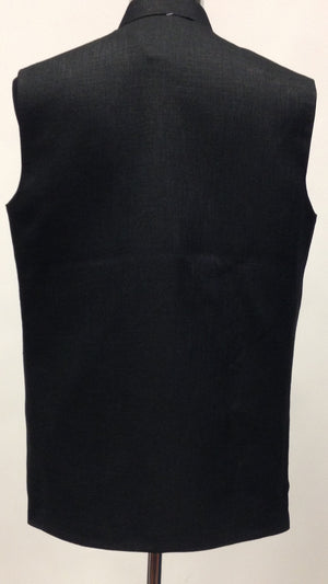 Men's Silk Vest - Black - 2