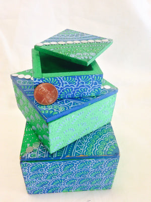 Terracotta Handcrafted Box set - 2