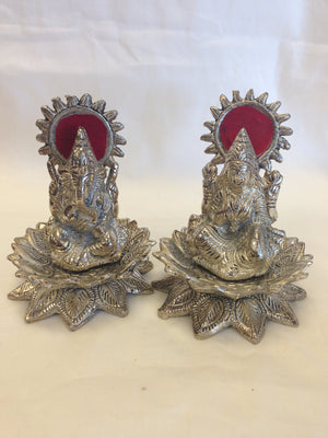 Oxidized - Laxmi Ganesh Sitting On Lotus