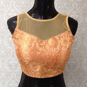 Party Wear Brocade Blouse - 1