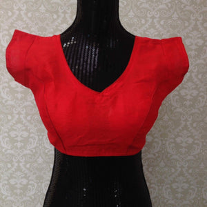 Silk Blouse-Red - 1