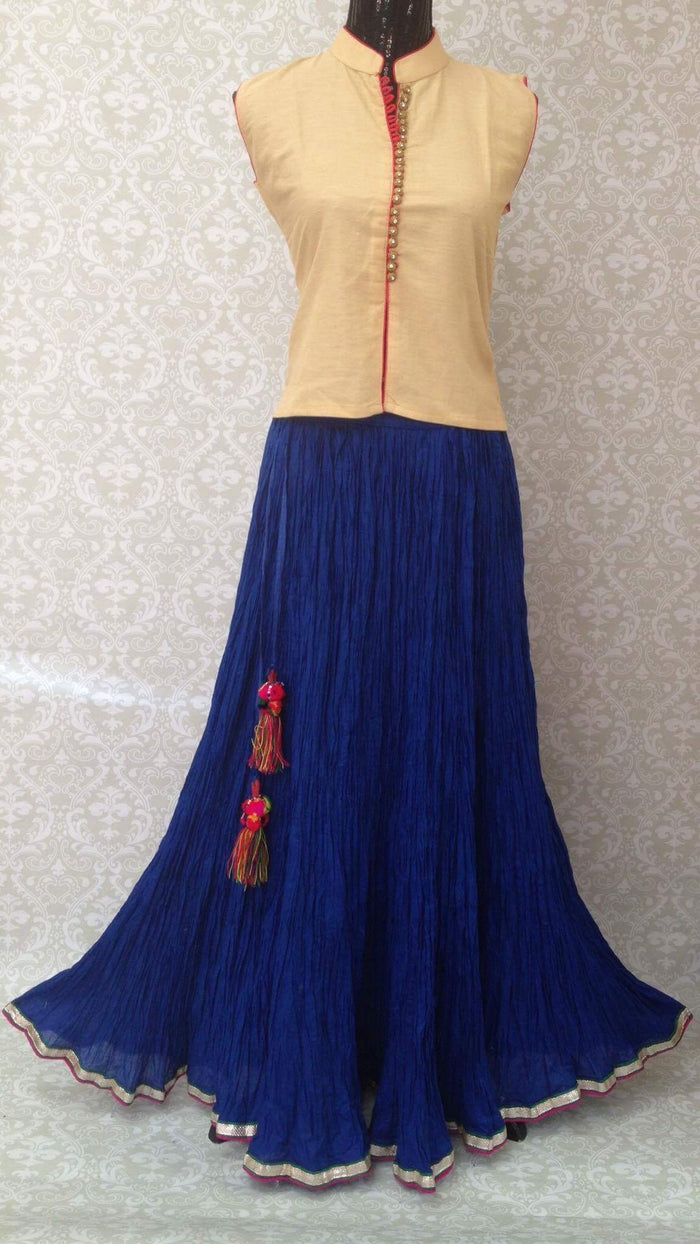 Plain Long Skirt -Blue,Green,Red,Pink