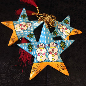 Paper Meche Christmas Ornaments - 6