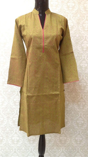 Pure Silk Printed Kurta