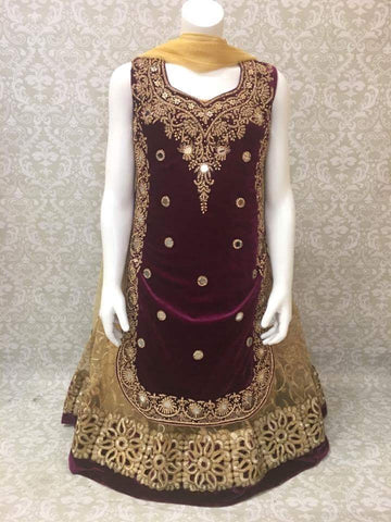 Party Wear Long Lehengha Choli - Sarang