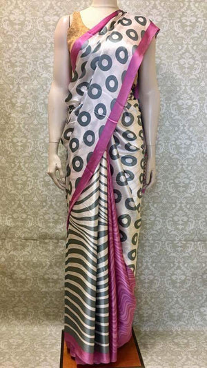 Satin Silk Saree - Sarang