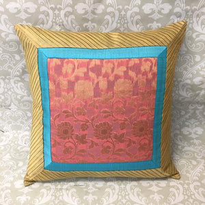 Single Silk Brocade Pillow Cover - Sarang