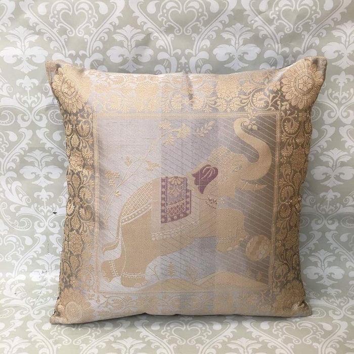 Single Silk Brocade Pillow Cover