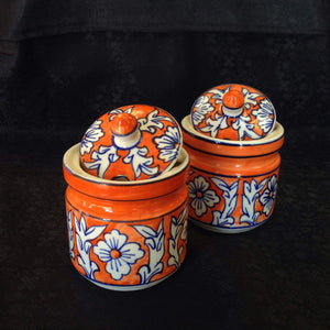 Ceramic/Khurja Art Jar - Sarang