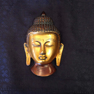 Antique Brass Buddha Wall Hanging - Sarang