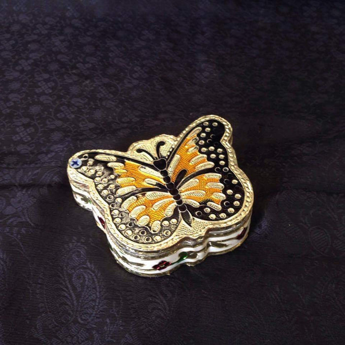 Butterfly shaped Meenakari Kumkum Box