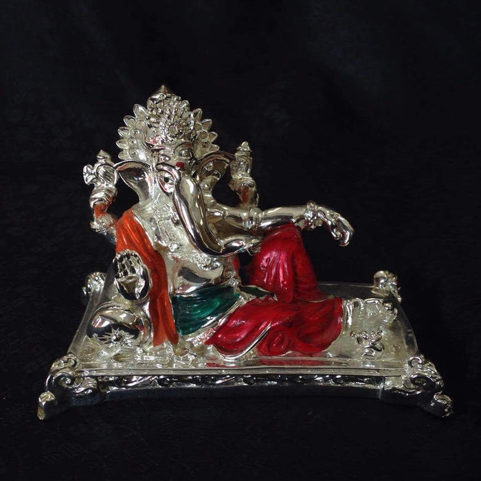 Statue - Silver Plated Ganesh