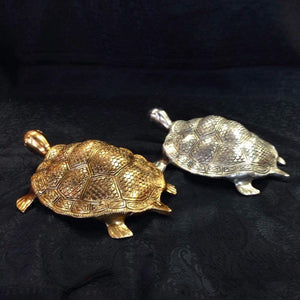 Brass metal turtle for goodluck and wealth - Sarang