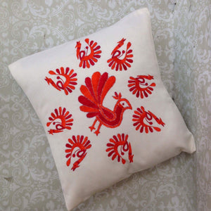 Silk Embroidered Cushion Cover - Sarang